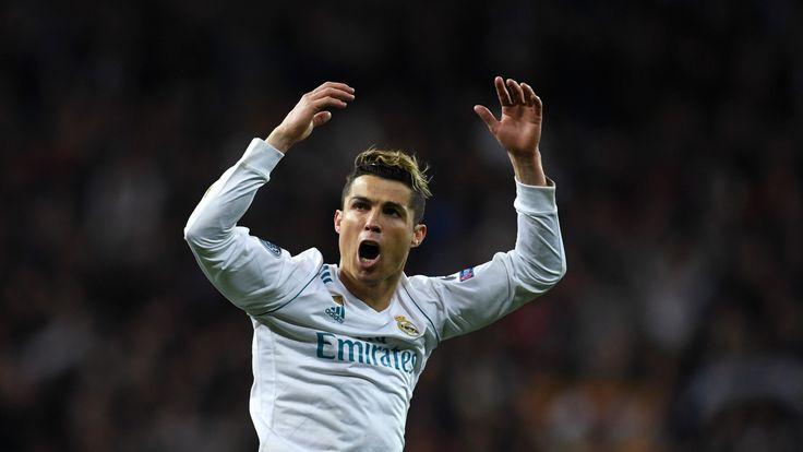 Cristiano Ronaldo celebrates as Real Madrid beat Juventus in the UEFA Champions League, semi-final on April 11, 2018