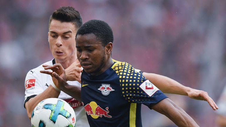 Ademola Lookman in action for RB Leipzig last season