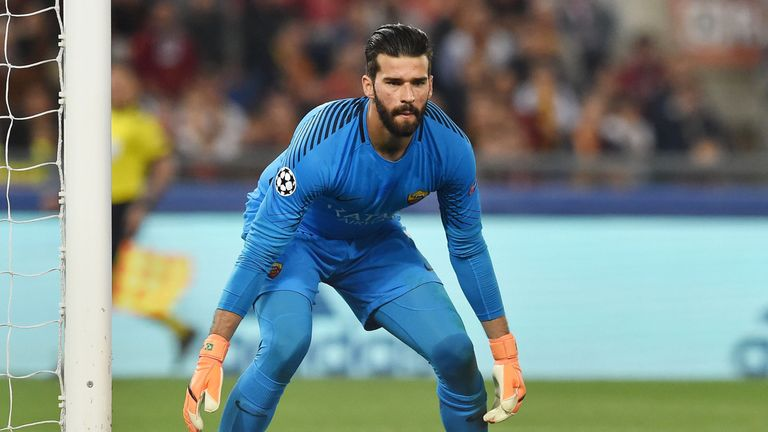 Alisson is set to join Liverpool for a world-record fee for a goalkeeper