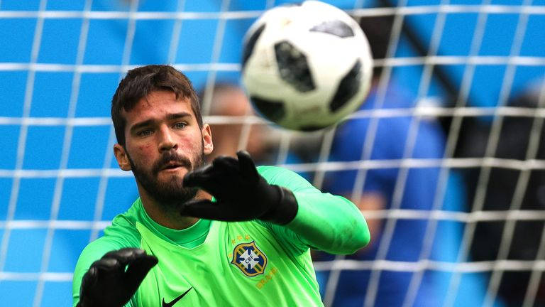 Alisson was Brazil's No 1 at the World Cup