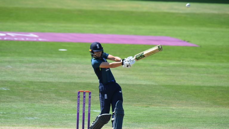 Amy Jones was England's top-scorer in the ODI series against New Zealand this summer