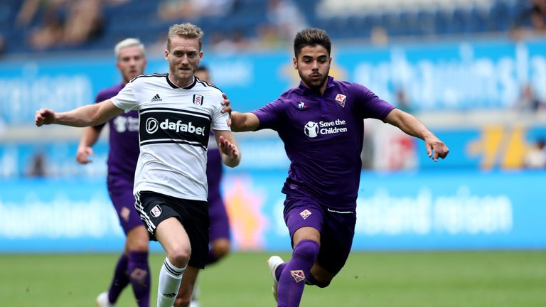 Andre Schurrle in action for Fulham during pre-season