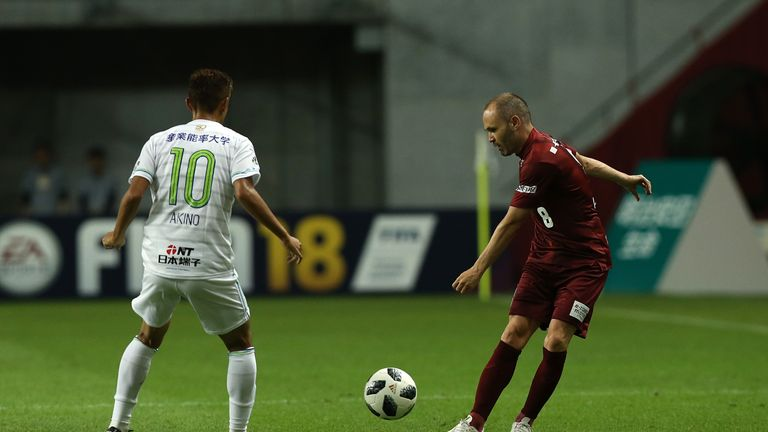 Iniesta played 31 minutes in Vissel Kobe's 3-0 defeat