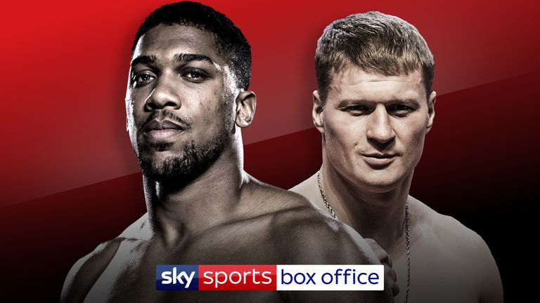 Anthony Joshua and Alexander Povetkin will fight at Wembley Stadium, September 22, live on Sky Sports Box Office