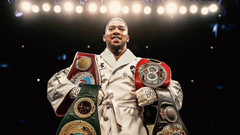 Anthony Joshua holds the IBF, WBO and WBA heavyweight titles