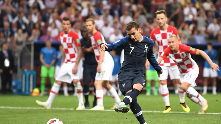 Antoine Griezmann's penalty made it 2-1 to France after a contentious VAR call