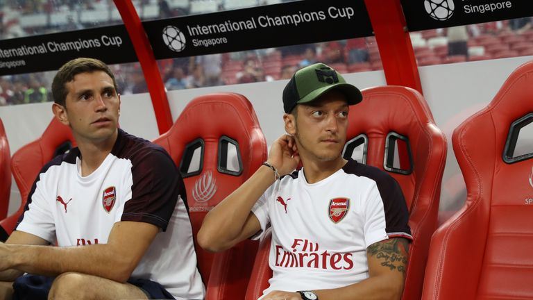 Mesut Ozil has thanked Arsenal fans for all their support