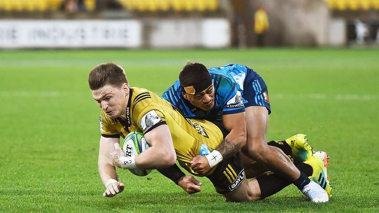 Beauden Barrett was also on the scoresheet as the Canes comfortably saw off the Blues