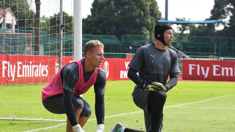 Bernd Leno will challenge Cech for a starting spot