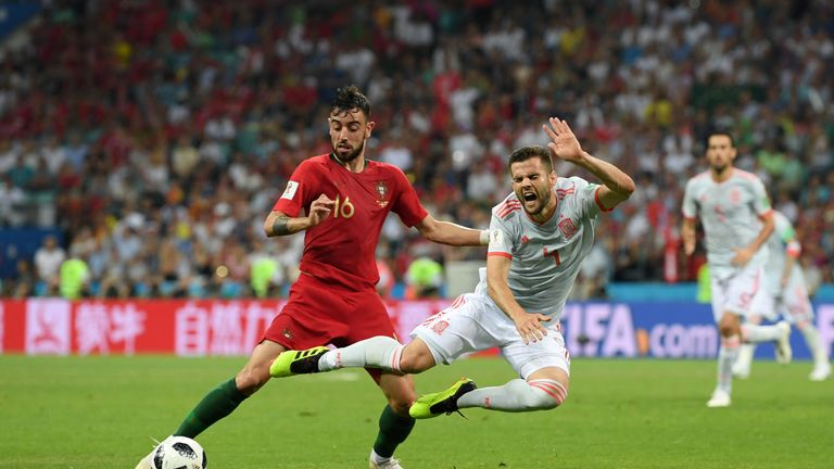 Bruno Fernandes started Portugal's opener against Spain and came on as a sub against Morocco