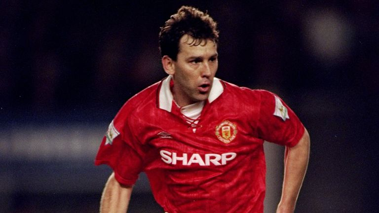 Bryan Robson spent 13 years at United, winning eight trophies