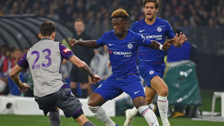 Callum Hudson-Odoi impressed for Chelsea against Perth Glory