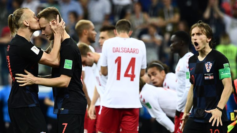 Croatia will face Russia after beating Denmark on penalties