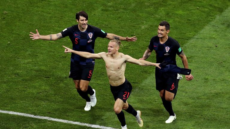 during the 2018 FIFA World Cup Russia Quarter Final match between Russia and Croatia at Fisht Stadium on July 7, 2018 in Sochi, Russia.