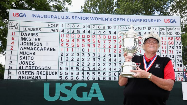 Dame Laura Davies is the US Senior Women's Open champion
