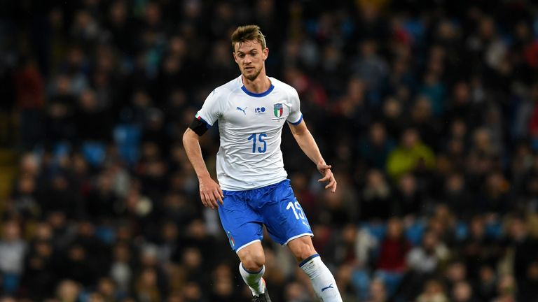 Daniele Rugani during the International Friendly between Argentina and Italy at Etihad Stadium on March 23, 2018