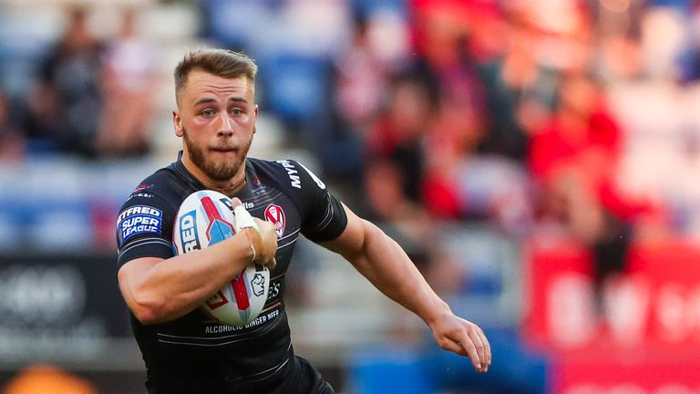 St Helens' Danny Richardson in action