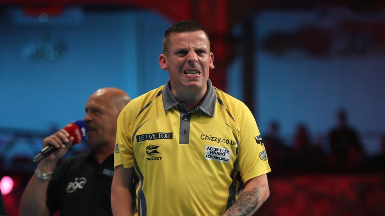 Dave Chisnall showed good form in beating Keegan Brown