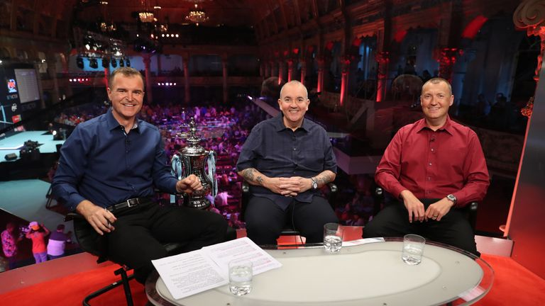 The duo worked together on Sky Sports' darts coverage throughout the last decade