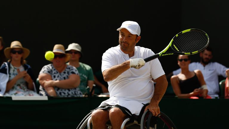 Wagner played in this year's Quads division, the first time the event has taken place at Wimbledon