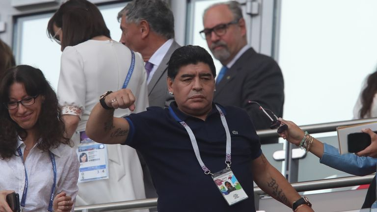 Diego Maradona believes Colombia suffered a 'robbery' against England at the World Cup