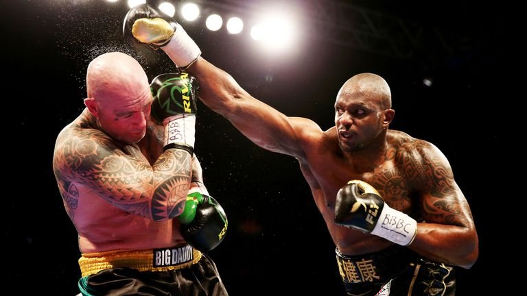 Dillian Whyte has displayed power ahead of Saturday's fight with Joseph Parker