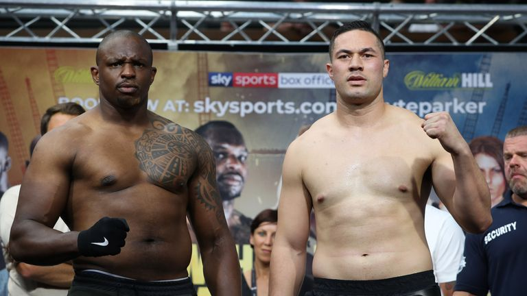 Whyte came in at 18st 6lbs 9oz, Parker at 17st 4lbs 8oz