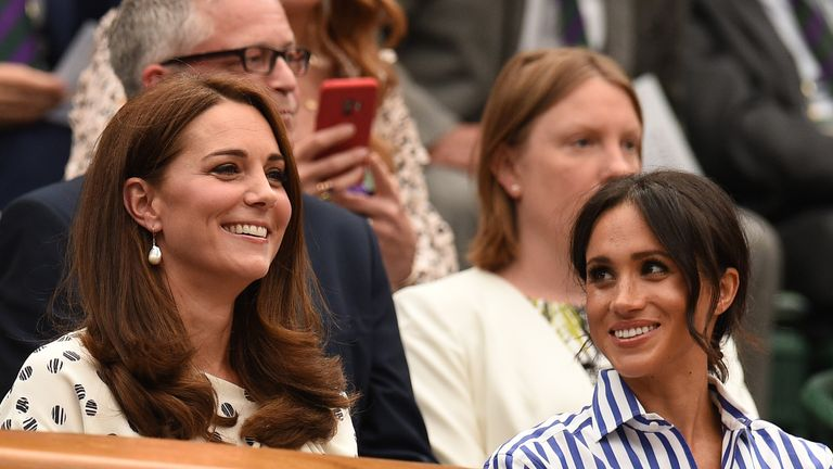 Catherine, Duchess of Cambridge, (left) and Meghan, Duchess of Sussex gave the men's semi-final a royal seal of approval