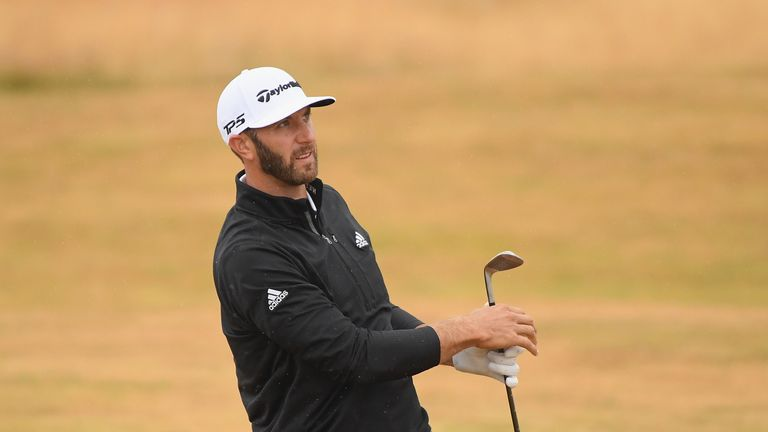 Dustin Johnson needed 13 shots to play the 18th hole over the two days