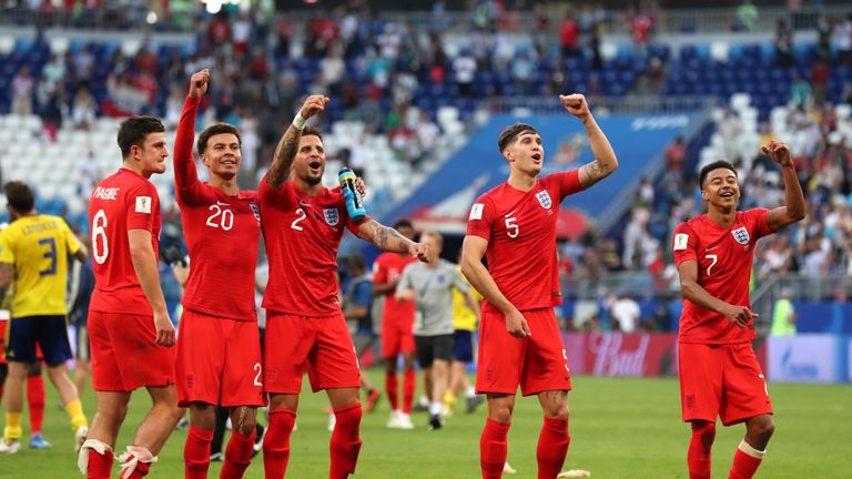 during the 2018 FIFA World Cup Russia Quarter Final match between Sweden and England at Samara Arena on July 7, 2018 in Samara, Russia.
