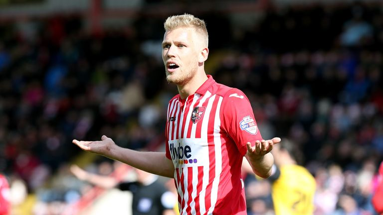 Jayden Stockley scored 24 goals in 45 appearances last season for Exeter