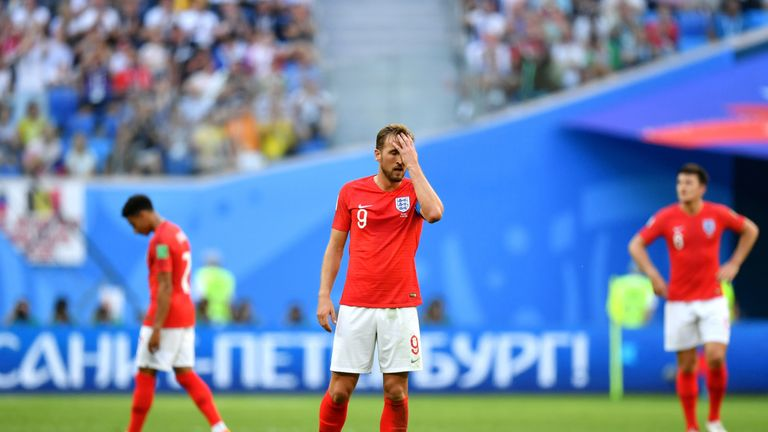 Harry Kane was dejected at the final whistle