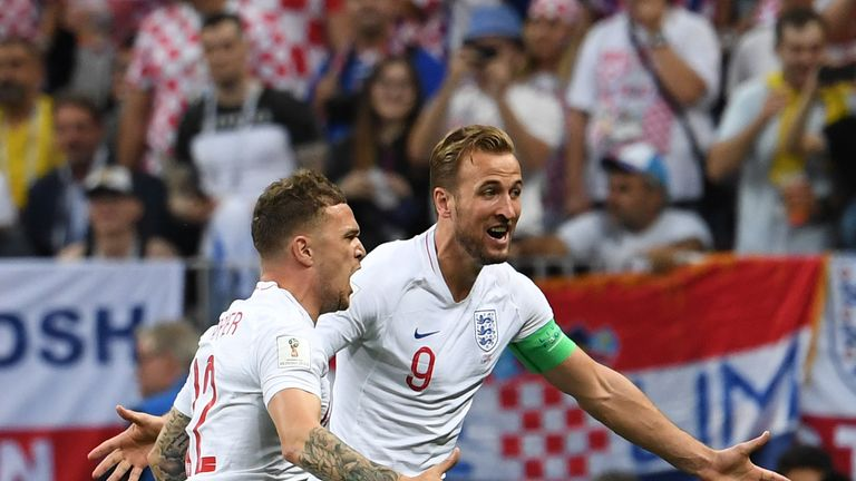 Harry Kane and Kieran Trippier played a key role in England's World Cup campaign