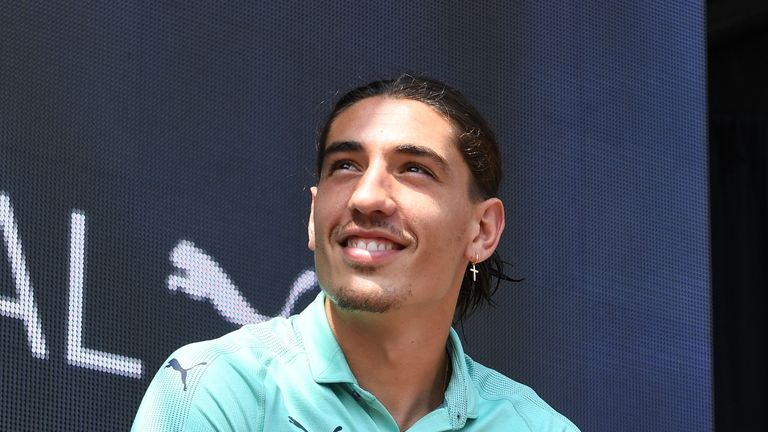 Hector Bellerin at Arsenal's third kit launch in Singapore