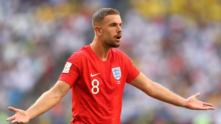 Jordan Henderson contests an early decision
