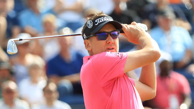 Ian Poulter during the first round of the 147th Open Championship at Carnoustie Golf Club on July 19, 2018 in Carnoustie, Scotland.