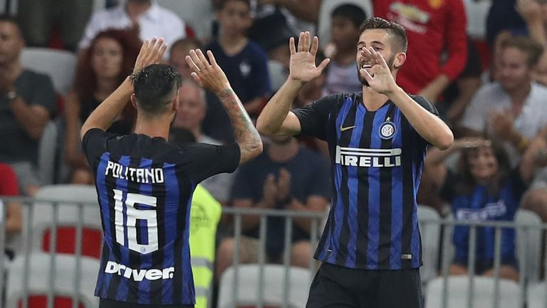 Roberto Gagliardini equalised for Inter early in the second half