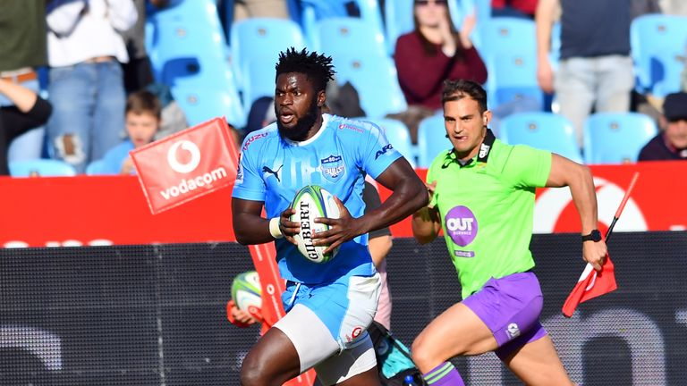 Jamba Ulenga scored two tries for the Bulls on Saturday
