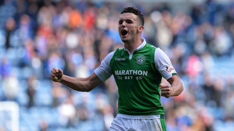 McGinn helped Hibs to their first Scottish Cup victory in 114 years in 2016