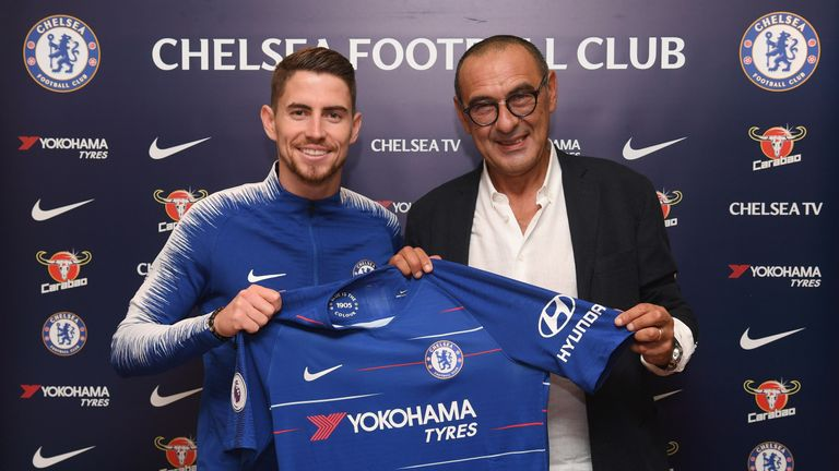 Jorginho will be linking up with his old Napoli boss Maurizio Sarri