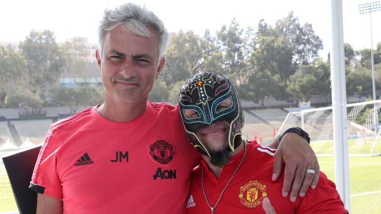 Mysterio met Manchester United manager Jose Mourinho during the club's summer tour of the United States