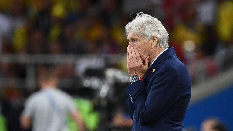 Jose Pekerman was not happy with England's players during the World Cup win over Colombia