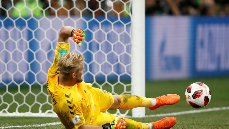 Kasper Schmeichel shone for Denmark at the World Cup, but could not stop them losing on penalties to Croatia