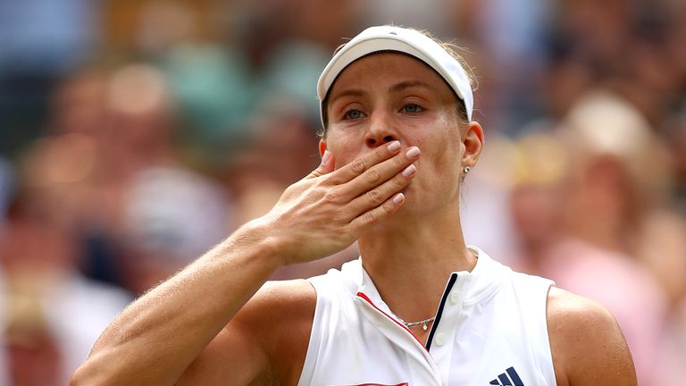 Angelique Kerber is the highest ranked player left in the draw