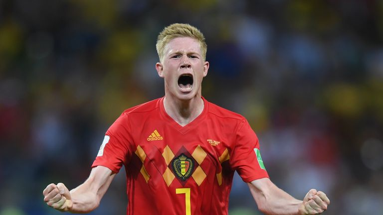 Kevin De Bruyne scored a superb goal in Belgium's win over Brazil