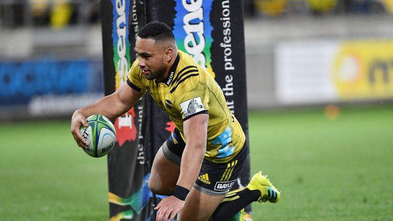 Ngani Laumape scored four tries for the Hurricanes against the Blues