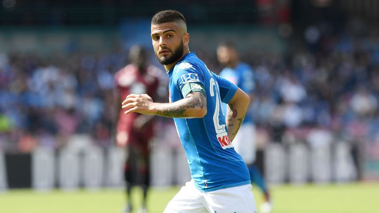 Lorenzo Insigne is a reported target for Liverpool and Chelsea