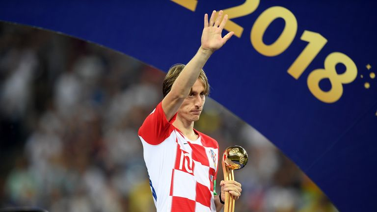 Luka Modric wins FIFA's The Best player of the season award