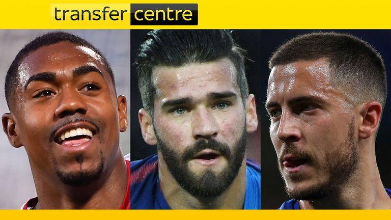 Transfer Centre - Malcom, Alisson, Hazard