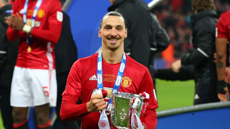 Ibrahimovic won two trophies in his first season at United